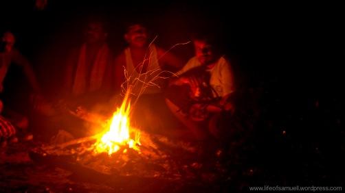 Campfire in Nagalapuram Trek